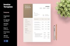 Invoice Template by Monologue People  on @creativemarket