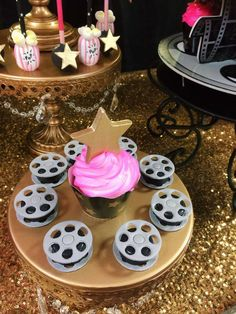 Oreo film reels at a Hollywood birthday party! See more party planning ideas at CatchMyParty.com!