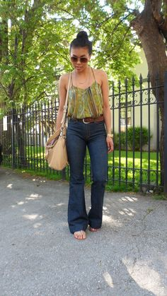Loving these jeans...high waist is coming back, high but not too high, they're great!