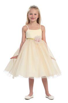 Gold Ballerina & Flower girl dress