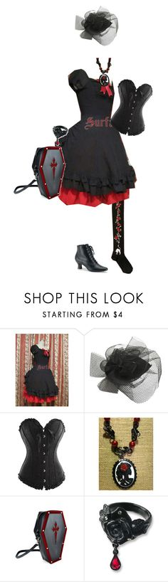 """""""Offbrand Vampiric Gothic Lolita Coord 2"""" by sakuuya ❤ liked on Polyvore featuring Wet Seal and Funtasma"""