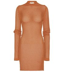 Acne Studios Alca Net Show Knitted Dress ($700) ❤ liked on Polyvore featuring dresses, beige, beige dress, acne studios, net dress and netted dress