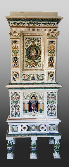 Online veilinghuis Catawiki: An imposing Historismus tiled stove by Villeroy & Boch - Germany - circa 1870