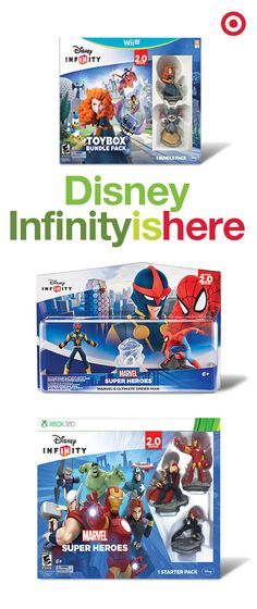 Infinitely cool gifts alert! Watch kids' imaginations run wild as they create their own gaming universe and create adventures with their favorite Disney Infinity Marvel superheroes and characters.