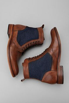 Denim and leather make for a stunning combo #ankleboots