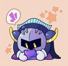 Cute meta knight with a 3ds! It looks just like mine!