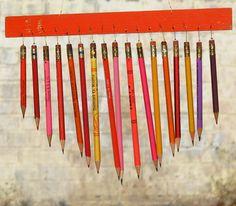 Windspiel aus Stiften