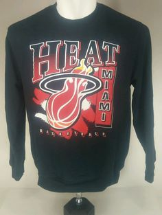 quality design 7eecf 0496d Mitchell   Ness Xl  Miami Heat Logo Black  Basketball Sweater from  25.0