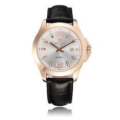 Sale 17% (24.69$) - Megir 5006G Women Casual Business Calendar Round Dial Leather Quartz Watch