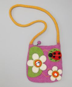 Take a look at this Lavender Ladybug Crossbody Bag by Bubblegum Diva on #zulily today!