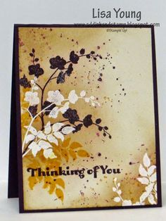 Stampin' Up! World of Dreams stamp set. Handmade thinking of you card by Lisa Young, Add Ink and Stamp Card Making Inspiration, Making Ideas, Stamping Up Cards, Get Well Cards, Fall Cards, Pretty Cards, Sympathy Cards, Paper Cards, Creative Cards