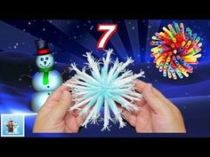 How to Reuse Drinking Straws and Make Snowflakes - 7 Art and Craft Ideas for Christmas Decorations - YouTube