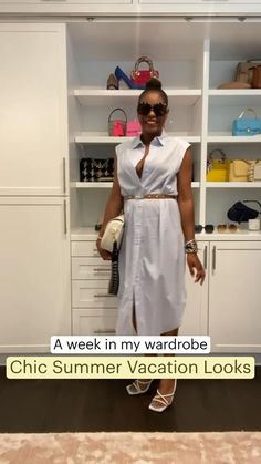 Summer Outfits Women, New Outfits, Fashion Outfits, Summer Dresses, Summer Vacation Style, All About Fashion, Comfortable Fashion, Stylish Dresses, Casual Chic