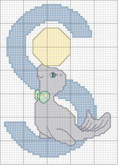 Schema punto croce S-foca