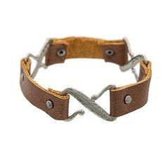 From our friends at Auntie's Beads -Hooked on Leather Bracelet ProjectTierraCast Z Hook and Rivets