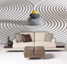 Japanese ZEN garden mural Repositionable peel and by StyleAwall, $386.00