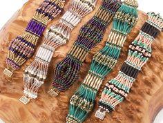 Scalloped Brick Stitch bracelet miyuki spacer beads