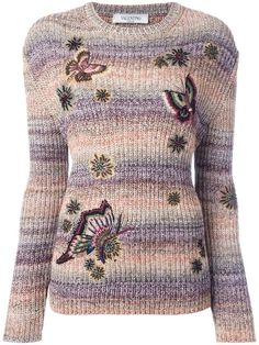 Designer Knitted Sweaters for Women. Butterfly EmbroideryCotton ... a8da631d1