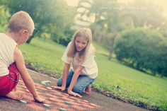 simple summer project: sidewalk chalk checkers - simple as that