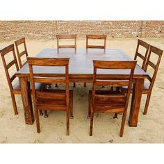 rustic 9 pc square dining room table for 8 person seat chairs set furniture new rustic 9 pc square dining room table for 8 person seat chairs set      rh   pinterest com