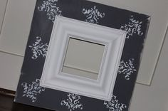 Wall hanging wood frame distressed gray and white by HiggiHouse, $75.00