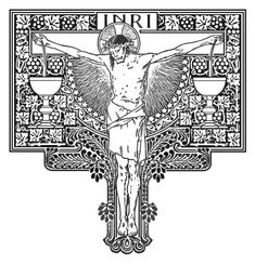 Christian Symbols, Christian Art, Religious Images, Religious Art, Bible Tattoos, Faith Of Our Fathers, Linear Art, Religion Catolica, Christ The King
