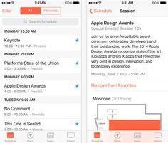Toda la información sobre la WWDC 2014 desde la app oficial para iPhone