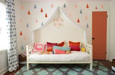 Raindrops & Rose Paint | Young House Love.  Very possible that S needs this canopy...