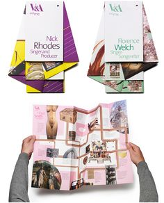 V&A and Me map brochures
