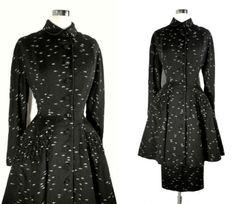 Vtg 40s 50s swing era LILLI ANN wool Peplum New Look Princess Dress Coat Suit S   eBay