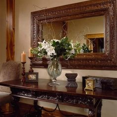 Tuscan decor – Mediterranean Home Decor Tuscan Decorating, Hallway Decorating, Entryway Decor, Interior Decorating, Wall Decor, Interior Design, Tuscany Decor, Foyer Furniture, Mediterranean Home Decor