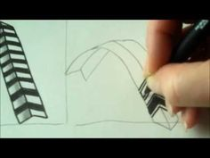 How to draw tanglepattern Braze - YouTube