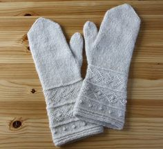 Twined knitted mittens (link to pattern in blog)