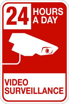$28.95 - 24 Hours A Day Video Surveillance 12 x 18 Safety Security Sign - http://www.ebay.com/itm/24-Hours-Day-Video-Surveillance-12-x-18-Safety-Security-Sign-/151087181765?pt=LH_DefaultDomain_0=item232d7f6fc5