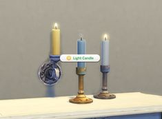 Mod The Sims: Single Candle + Candle Holders by plasticbox • Sims 4 Downloads