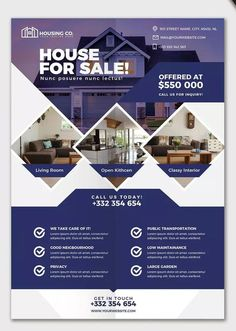 Design flyer, brochure, poster and postcard in 5 hours by Basir_muhammadi Real Estate Banner, Real Estate Flyers, Real Estate Flyer Template, Business Flyer Templates, Flyer Design Templates, Inmobiliaria Ideas, Graphic Design Brochure, Flyer Layout, Brochure Layout