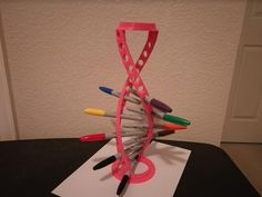 DNA Helix PEN Holder - bigger version of pencil version by Jimbotron - Thingiverse