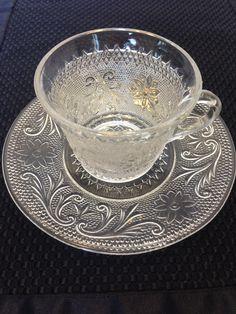 Anchor Hocking Vintage Sandwich Glass Cup by BarnyardBabeVintage, $6.00