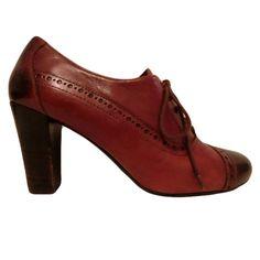 Zapatos de Cordones : Zapato marrón oxford de tacón - Abretucloset.com