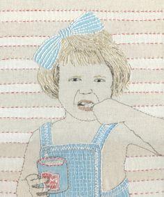 SUE STONE  embroidery self portrait