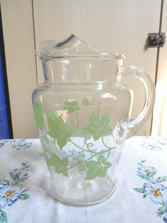 Vintage Glass Pitcher