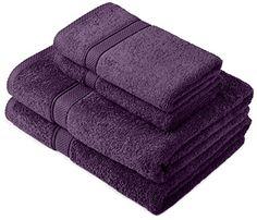 Pinzon by Amazon - Egyptian Cotton Towel Set, 2 Bath and 2 Hand Towels - Plum #Pinzon #Amazon #Egyptian #Cotton #Towel #Set, #Bath #Hand #Towels #Plum