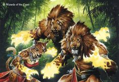 Ajani's Chosen - new card art for Magic the Gathering by Wayne Reynolds