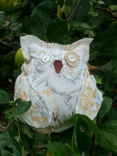 Boudoir Art Owl  Marie Pale Blue Gold and White by Shalotte, £12.00