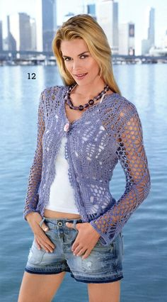 Pattern only - a crochet spring/summer/fall top cardigan