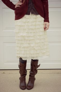 CUTE SKIRT!!!  Bramblewood Fashion - A modest fashion blog
