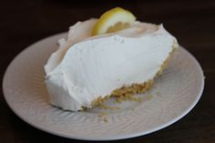 Mile-High Lemonade Pie: Used to love this lemonade pie, but lost the recipe along the way. Can't wait to make it again.