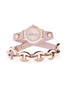 Double-Wrap Metallic Watch - New York & Company