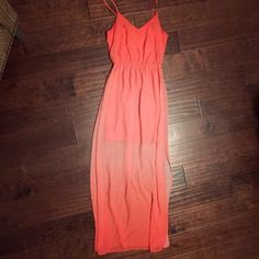⭐️Orange Ombré Maxi Ombré dress with two slits on each side. It has a slip underneath about mid thigh.   ❌ NO TRADES  Same day / Next day Shipping Non smoking & Pet free Home  Bundle discount 10% off 2+ items Dresses Maxi