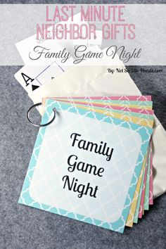 Family Game Night Printables